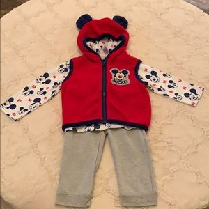 Mickey Mouse 3 Piece Outfit
